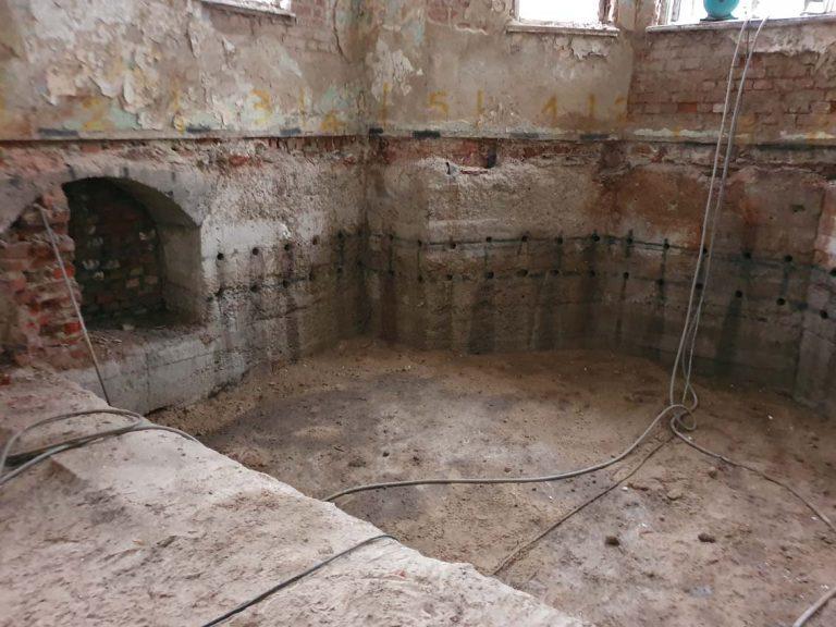 wiercenie w betonowych fundamentach fgtech